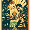 Shepard Fairey's print : 50th Anniversary of the Peace Corps