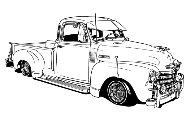 chevy car coloring pages - photo#35