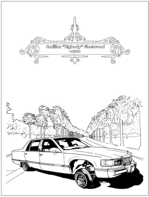 lowrider coloring book by dokument press mixing reality